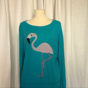 Wildfox thin sweatshirt with flamingo design.